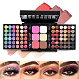 All In One Makeup Gift Kit,Professional 78 Colors Combination Palette Makeup Set for Women - 48 Eyeshadow, 18 Lip Gloss, 3 Blusher, 6 Concealer, 3 Contour Powder, 4 Brushes, 1 Mirror