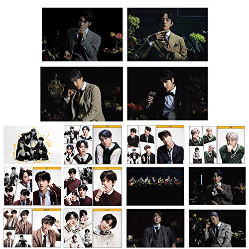 Saicowordist 16 Stck/Set Kpop Bangtan Boys MAP of the Soul 7 HD Crystal Card Stickers Mini Card Sticker geeignet fr Bus Card ID Card A.R.M.Y Hot Gift H02