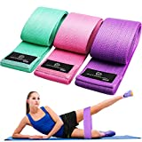 Exercise Resistance Bands for Legs and Butt, Anti-Slip & Roll Workout Booty Bands for Women Squat...