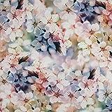 Viskosestoff romantische Blüten - Preis gilt für 0,5