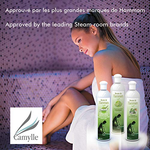 Camylle – Brume de Hammam – Emulsion von Ätherischen Ölen für Dampfbad – Eukalyptus – Atmungsaktiv – 250ml - 2