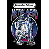 Composition Notebook: Star Wars R2D2 Metal Head Vintage Graphic Z2, Journal 6 x 9, 100 Page Blank Lined Paperback Journal/Notebook