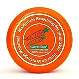 Carrot-Sun  Bräunungsbeschleuniger Bräunungscrem mit Karottenöl, L-Tyrosin und Henna für eine goldbraune und schnelle Bräunung! 350ml
