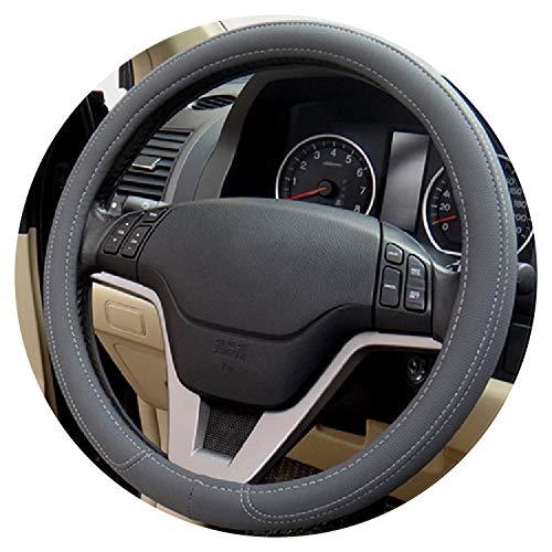 Ablaze Jin 0907 Housse de Volant de Voiture en Microfibre PU pour Kia, Hyundai, Toyota, Honda, Rio, Lada Noir/Gris/Beige, B- Gray
