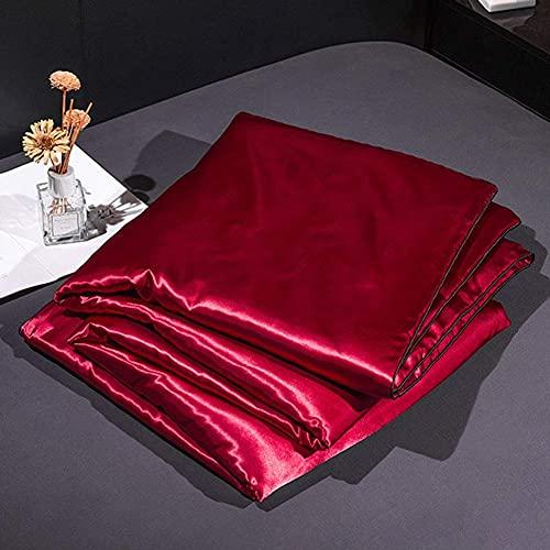 Yinghesheng Verano Aire Acondicionado Edredón Edredón Manta Edredón de Verano Edredón Lavable Seda de Hielo,Rojo,150x200cm