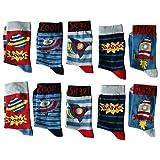 Lieblingsstrumpf24 10er Pack Socken Kinder Jungen Mädchen Baumwolle Öko-Tex Standard 100 (35-38, Jungs-Weltraum-Mix)
