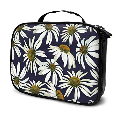 CheChenDengH Kosmetiktasche Chamomile Flowers Cosmetic Bag Toiletry Bag, Artist Makeup Organizer Professional Portable Storage Bag Travel Train Case With Top Handle