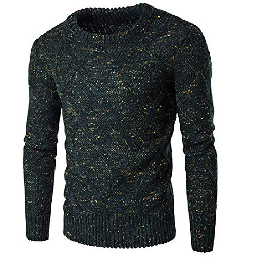 Style Pullovers Sweater Men Winter and Spring Mixted Color Slim Fit Man Mens Sweaters Dress Suit Sweater Male Green