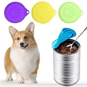 Couvercles de boîte de nourriture pour animaux de compagnie 6PS, couvercle de couvercle de boîte de conserve en silicone universel pour nourriture pour animaux de compagnie, couvercles de boîte