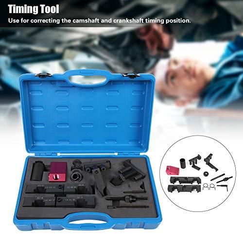 Synchronisatiegereedschap van ijzer van hoge kwaliteit, gereedschap voor krukas met koffer, vergrendeling voor uitlijning.