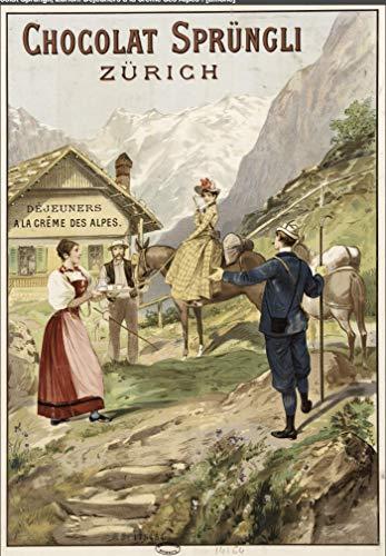 Póster de Suiza Chocolate Zurich – Formato 50 x 70 cm, papel de lujo, 300 gr – Venta del archivo digital HD posible, nos consultar (tienda: cartel vintage.FR)