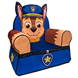 Marshmallow Furniture Comfy Foam Toddler Chair Kid's Furniture for Ages 2 Years Old and Up, Chase Character from Paw Patrol