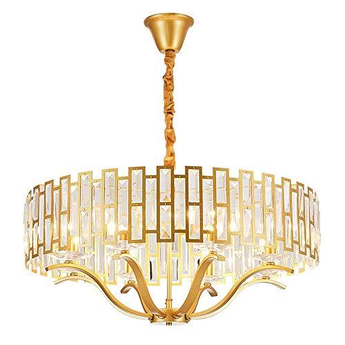 CHENJIA Araña de cristal de montaje empotrado pendiente de la luz del accesorio de iluminación creativas Hoteles Arte Living Comedor luces de techo de cristal