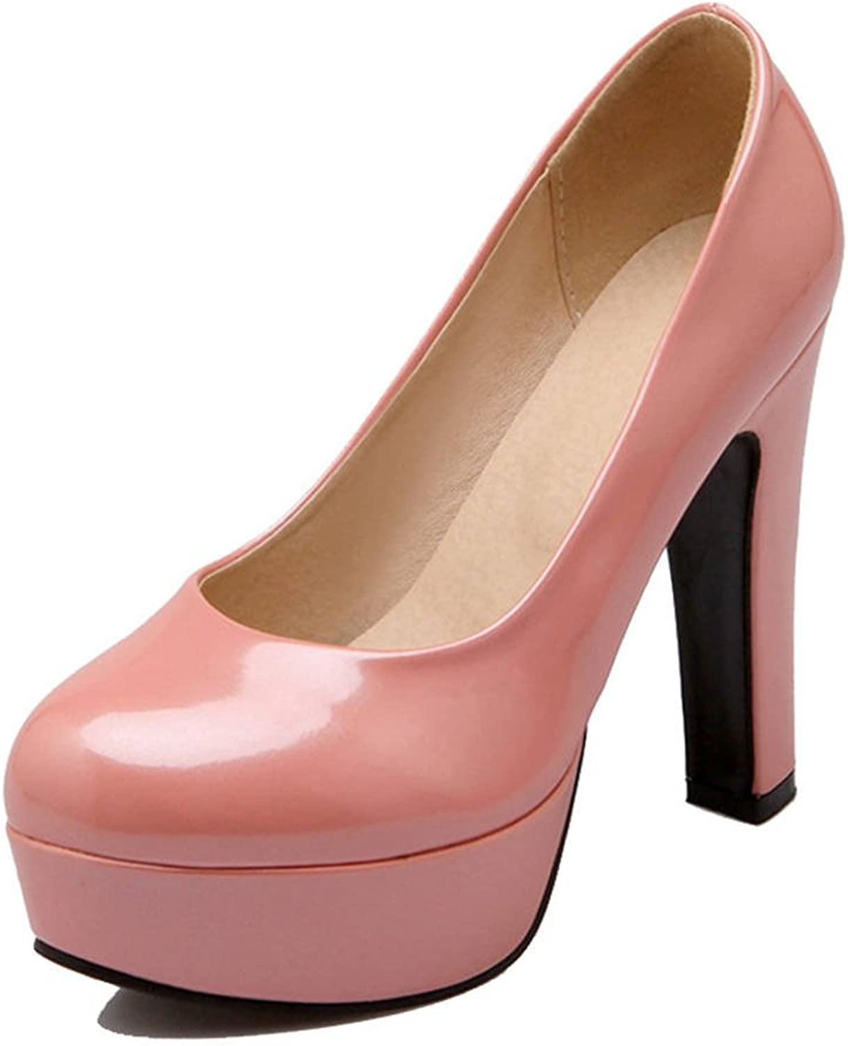 SJJH Pumps with High Heel and Thick Platform All Macth Women shoes with Large Size Available
