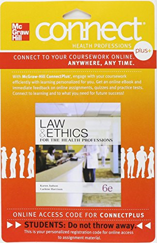 Connect Plus for Law & Ethics for the Health Professions