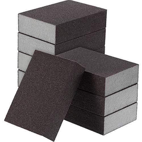 Sanding Sponge, Sanding Blocks, Washable and Reusable Sand Sponge Kit, 8 Pieces (Fine Grade)
