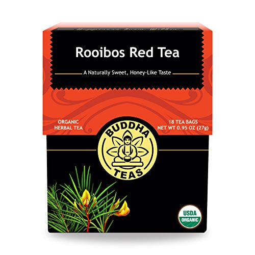 Buddha Teas Organic Rooibos Tea - High in Antioxidants   18 Tea Bags