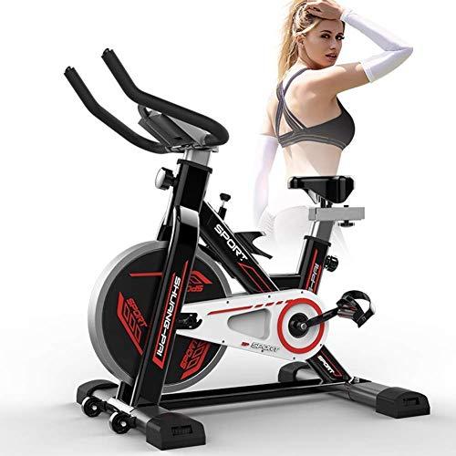 XUSHEN-HU Bicicletas de Interior Bici de la Correa de accionamiento fijos, Bicicleta estática con el Monitor LCD de Inicio Cardio Entrenamiento Bicicleta de formación-Negro Interior