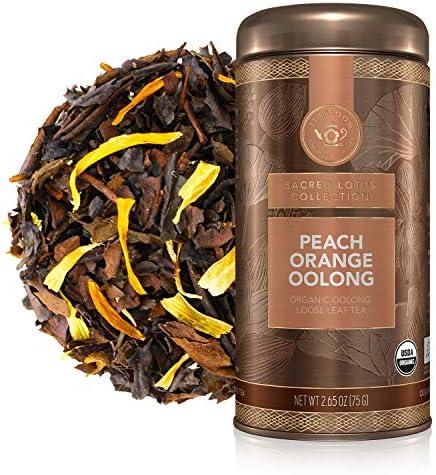 Teabloom Organic Oolong Tea Peach Orange Loose Leaf Tea USDA Certified Organic Fresh Whole Leaf product image