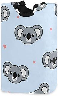 N\A Panier de Rangement de Linge Mignon Koala Dessin animé Motif Panier à Linge Organisateur Pliable pour Chambre d'enfant...
