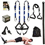 Clothink Resistance Training Straps Set for Home Gym Fitness, Resistance Band with Handles, Indoor Outdoor Strength Exercise Workout Kit
