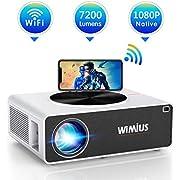 Vidéoprojecteur WiFi Full HD 1080P, WiMiUS 7200 Lumens Projecteur WiFi Full HD 1080P Rétroprojecteur Supporte 4K Audio Dolby Projecteur LED Home Cinéma pour Smartphone,TV Stick,PC,PS4 HDMI USB VGA AV