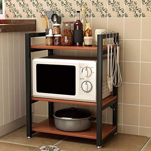 XXT Cadre de rangement Cuisine escamotable Four à micro-ondes Four sur pied Four de stockage pour cuiseur de riz 4 4 couches Rack de stockage (Color : G, Size : 90 * 60 * 40cm)
