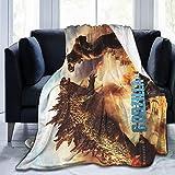DACHOUB Go-Dzilla Vs Kong 2021 Micro Fleece Throw Blanket All Season Anti-Pilling Flannel Air Conditioner for Sofa Travel