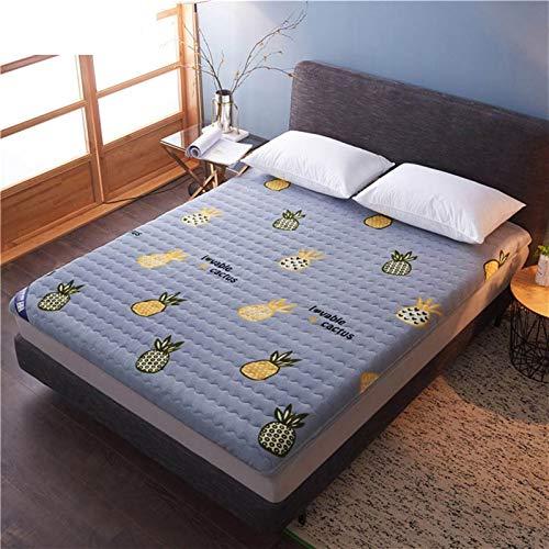 yangdan Colchón grueso y cálido de franela para cama individual para estudiante o dormitorio tatami plegable que ayuda a dormir tamaño King (tamaño: 90 x 200 cm, color: C)