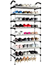 Rerii シューズラック 下駄箱 組み立て式 靴収納 ラック シューズボックス スリム 大容量 おしゃれ 靴入れ 玄関収納 8段 幅60×奥行28×高さ153cm
