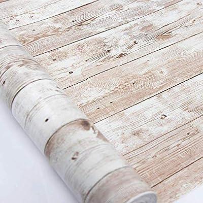 Vinilos Decorativos◕‿◕ 1. Tamaño: 45X300 cm,hecha de material de PVC, aspecto de grano de madera real, color cálido Vinilos Decorativos◕‿◕ 2. Impermeable, a prueba de aceite, antiincrustante, fácil de limpiar Vinilos Decorativos◕‿◕ 3. Vinilos Decorat...