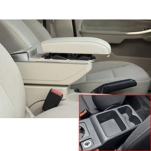 Muchkey Accoudoir de voiture de luxe sans USB pour Golf 7 2015–2016 Cuir PU Accessoires de décoration intérieure