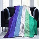 heigudan Mlm Pride Flag Gay Man Pride Flag Flannel Plush Soft Throw Blanket for Couch Cozy Lightweight Decorative 60 x 80 Inch