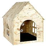 Bonlife - Caseta de Madera para Perro o Gato para Interior y Exterior
