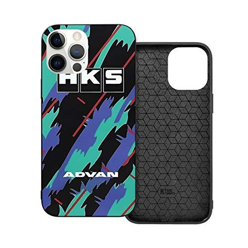 NGNHMFD Funda Hks Advan JDM compatible con iPhone 11 Pro Max 12 Pro Max Mini SE 2020 6/6s 7/8 Plus X XS XR Negro Teléfono Funda