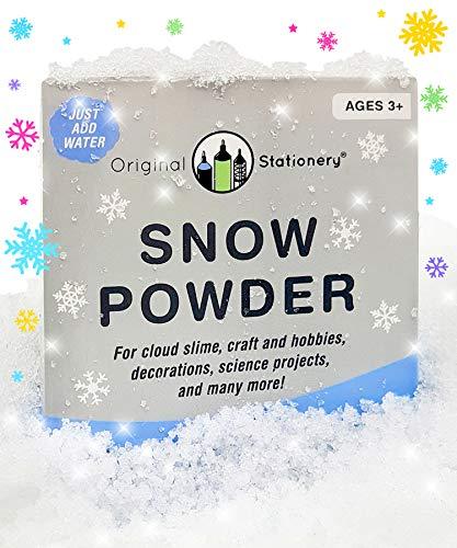 Papelería Original para Nieve en Polvo instantánea [2 galones] CREA Nieve Falsa...