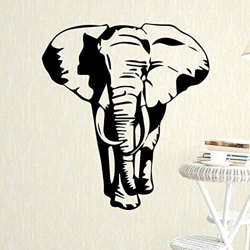 Tianpengyuanshuai Elefantenmuster Wandaufkleber Junge Schlafzimmer Dekoration abnehmbare wasserdichte Vinyl Wandtattoo 30X35cm