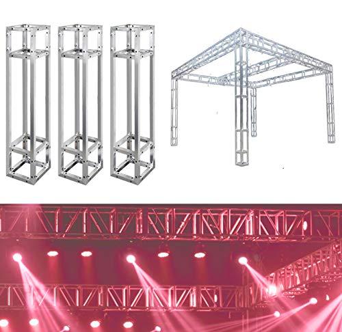 UNHO 3PCS Truss Cuadrado Estructura de Aluminio Soporte Truss para DJ Etapa Iluminación 100 x 20 x 20cm