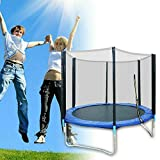6FT Small Trampoline for Kids with Enclosure Safety Net, Upthehill Outdoor Trampoline Backyard Trampoline for Family Weight Capacity 300KG