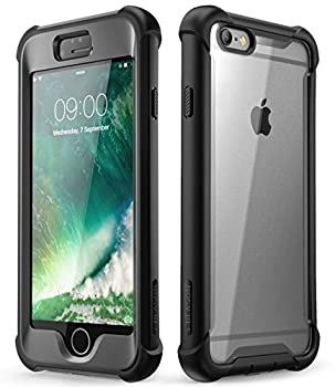 i-Blason Ares Clear Case for iPhone 6s/ iPhone 6  4.7 Inch  [Built-in Screen Protector] Full-Body Rugged Clear Bumper Case  Black