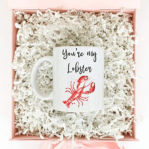 Regalo para el día de San Valentín para novia, regalo de San Valentín para novio, regalo del día de San Valentín, eres mi langosta, regalo personalizado, taza de café, taza de café de 325 ml