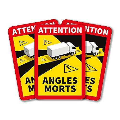 lepni.me Ángulo Muerto Lote de 1/3/5/6/12/30/50/100 Pegatinas Attention Angles Morts para Camiones Pesados o autobuses (6PCS Camión)