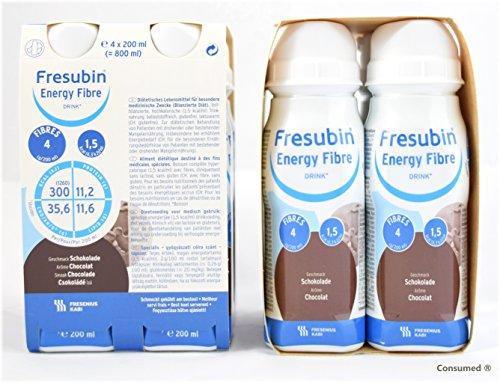 8x 200ml Fresubin Energy Fibre DRINK Schokolade - im exclusiven ConsuMed Bundle inkl. Produktplakat