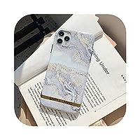 Cvnsla for iPhone 12 Mini 11 Pro Max XR XS Max 7 8PlusソフトIMD電気メッキ電話の裏表紙用の豪華なクラシック大理石電話ケース-Grey-for iPhone 11Pro Max