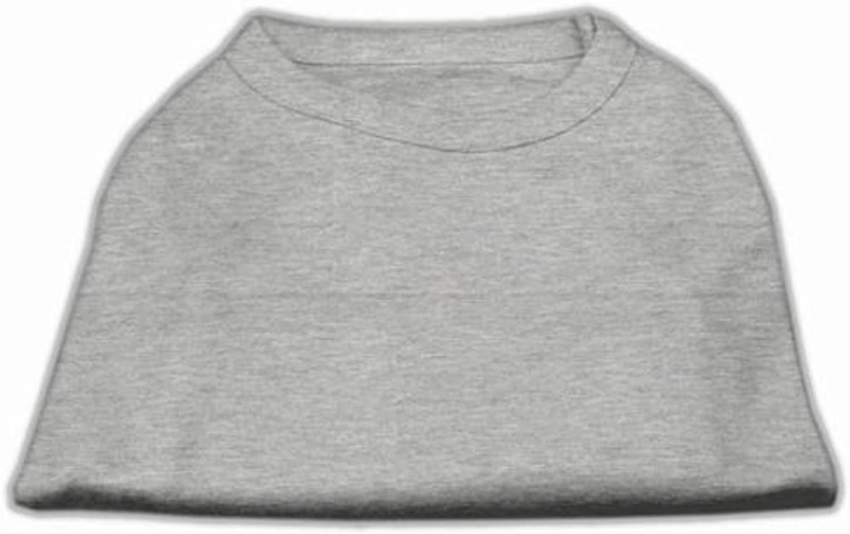 Dog   Cat   Pet Charms Plain Shirts Grey Lg (14)