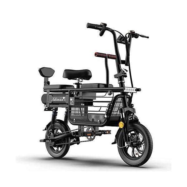 51UWtvEiD7L. SS600  - CYC 12 Zoll Elektro Fahrrad Faltbares Elektrofahrrad Aufbewahrungskorb mit Großer Kapazität Kohlenstoffreicher Stahl 48v 8-25ah Lithium-akku 350w Motor 3 Modi Kann 200 Kg Tragen City-e-Bike