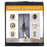 SunArea Upgraded Magnetic Screen Door 39'W x 82'H with Black Magnet , Self Sealing, Heavy Duty, Full Frame Hook & Loop Durable Mesh Curtain Door Net Screen Fits Door Size