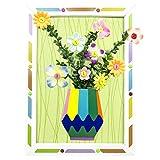 Ziao Juego de arreglo floral para niños, papel o tela, manualidades con marcos, aprendizaje estético, juguete educativo