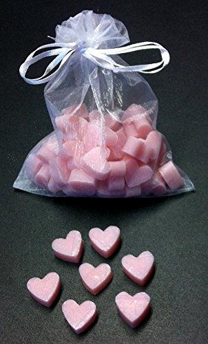 Florex Schafmilchseife rosa mini mini Herz 50 Stück Magnolie Seife im Organzasäckchen Gastgeschenk