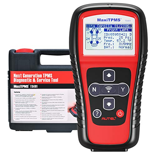Autel TPMS Relearn Tool MaxiTPMS TS401, Ideal TPMS Tool for TPMS Reset, Sensor Activation, Program for MX-2in1MX-Sensor 433/315